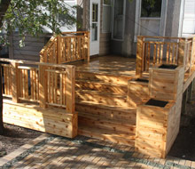 Cedar Deck with Planter Boxes