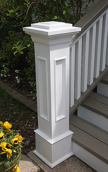 Front Steps, Railings and Newel Posts « EDGEWATER WOODWORK